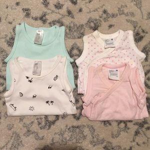 4 pc lot/bundle sleeveless baby girl onesies